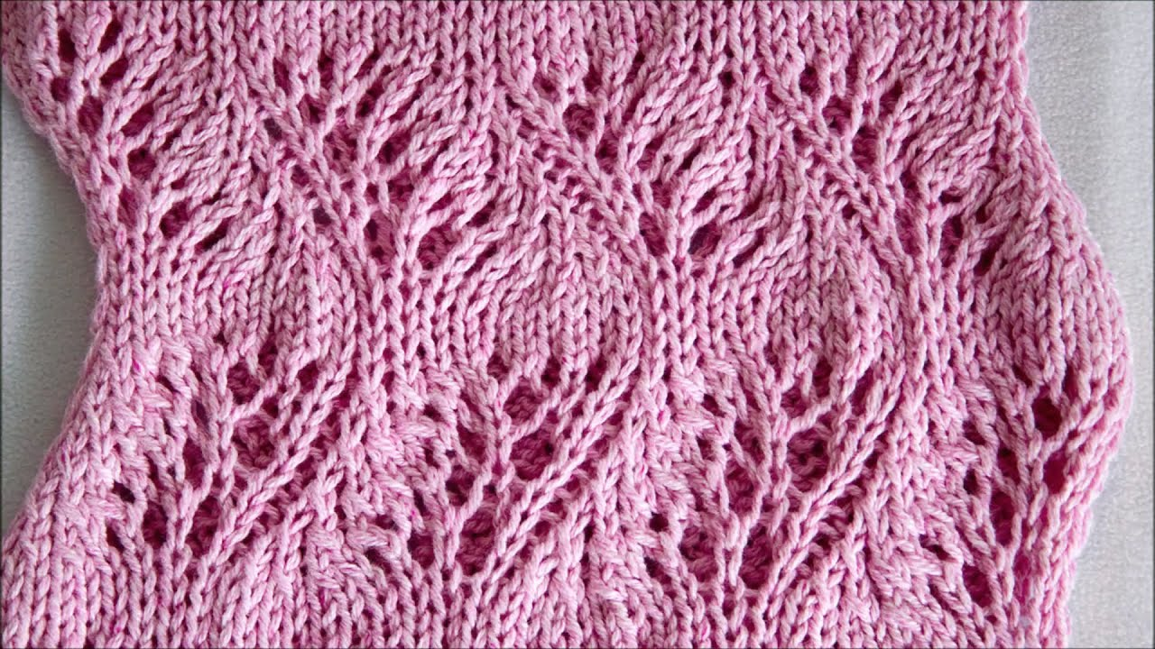 Lace Loop Knitting Stitch Feather - Lace Loop Strickmuster Feder - YouTube