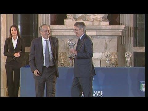 Massimo Moratti premiato alla Hall of Fame del Calcio Italiano 2013