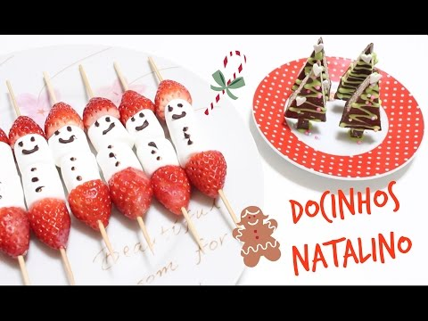 DIY:Docinhos Natalinos | espetinho de morango e marshmallow | arvore de chocolate