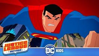Justice League Action | Superman VS Bat Monster | DC Kids