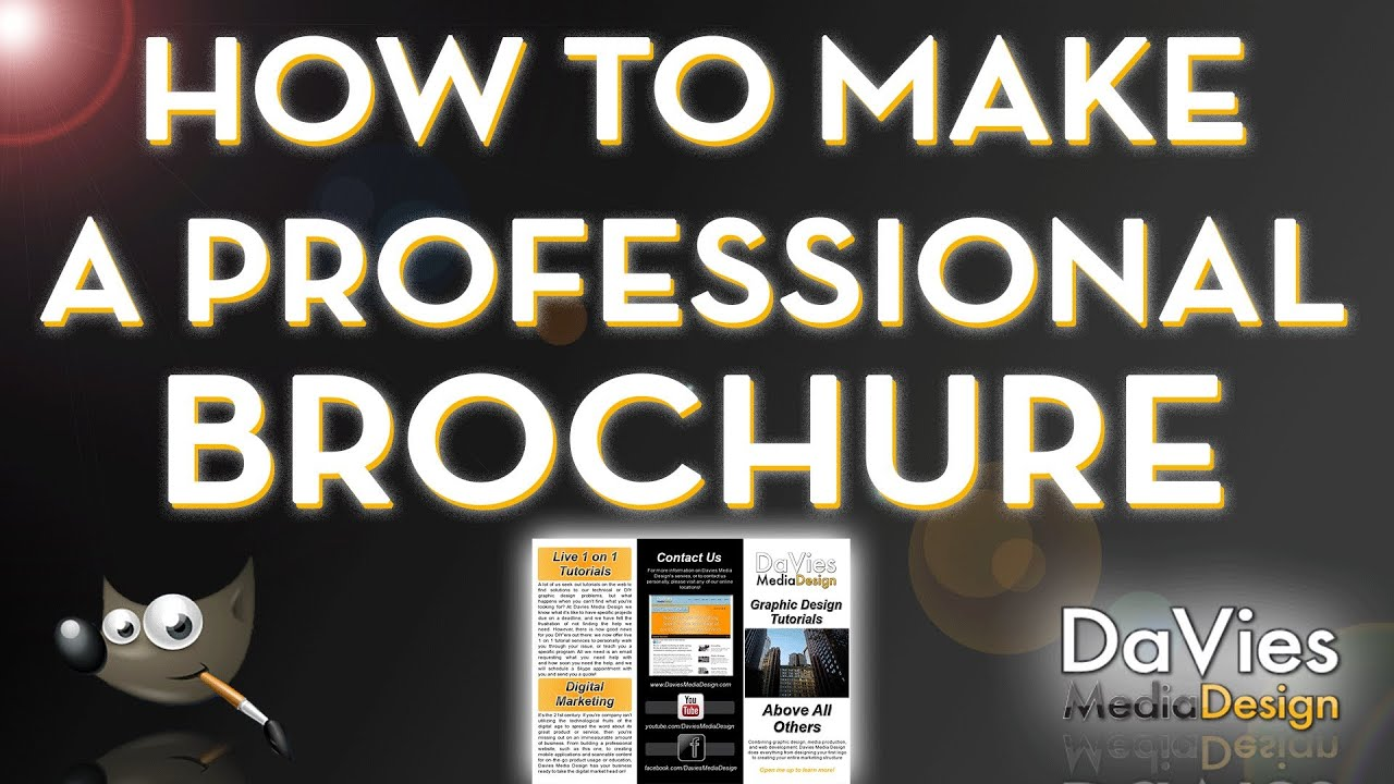 how to make a professional brochure in photoshop