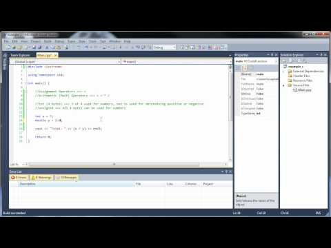 C++ Tutorial 3 - Arithmetic and Assignment Operators
