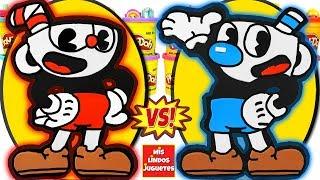 Huevos Sorpresa Gigantes de Cuphead VS Mugman del Videojuego de Plastilina Play Doh en Español