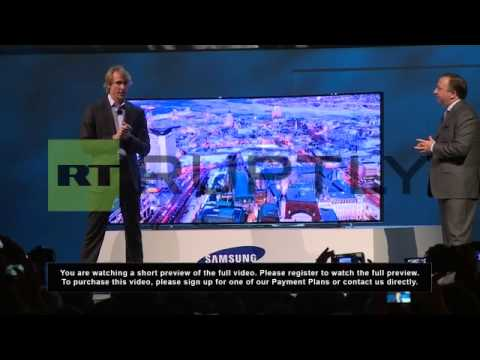 USA: Transformers director Michael Bay storms off stage at CES 2014