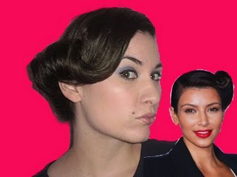 Kim Kardashian Hair Tutorial - Pin Up Girl Hairstyle - Kim Kardashian Perfume - Review