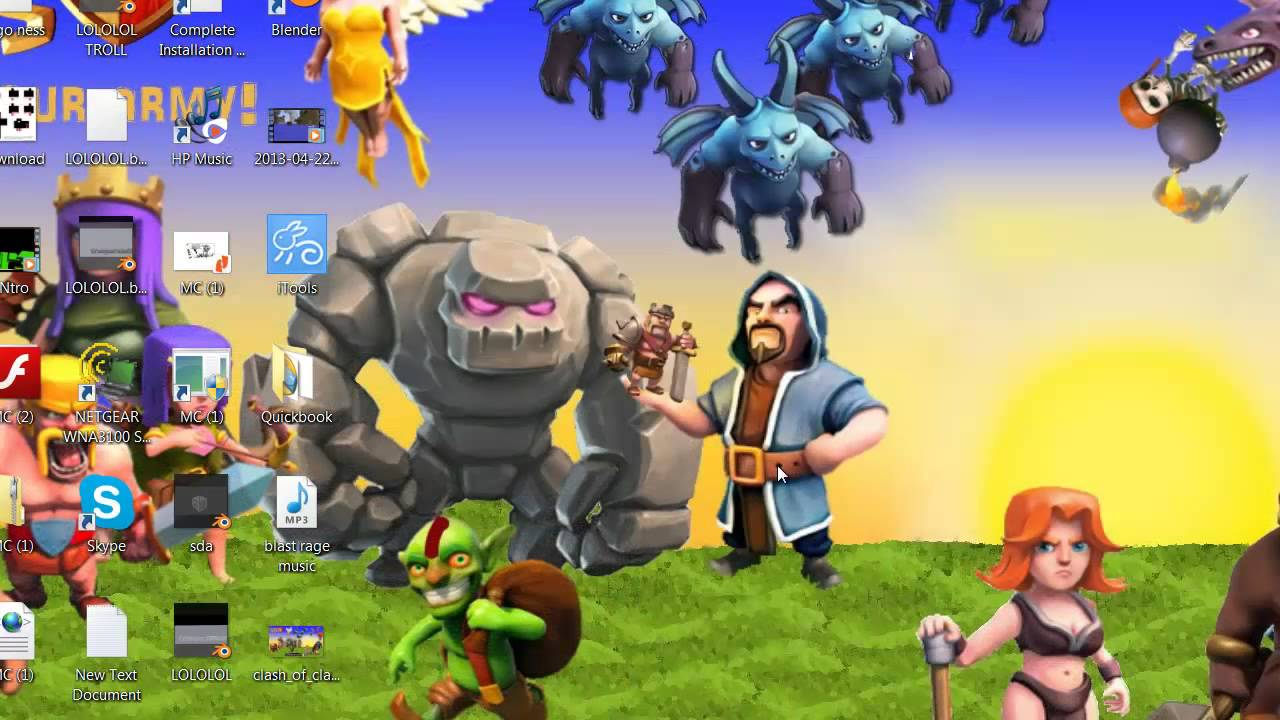 Afro Wizard Clash of Clans