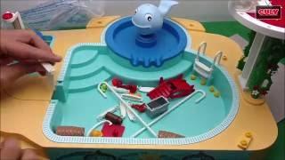lắp ráp bộ đồ chơi hồ bơi của Xeko khoe Nobita - đồ chơi doremon chế hài - Playmobil pool summer fun
