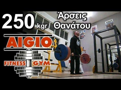 250 kgr στις Αρσεις Θανάτου - Χρήστος Φιλιππόπουλος (AIGIO FITNESS GYM)