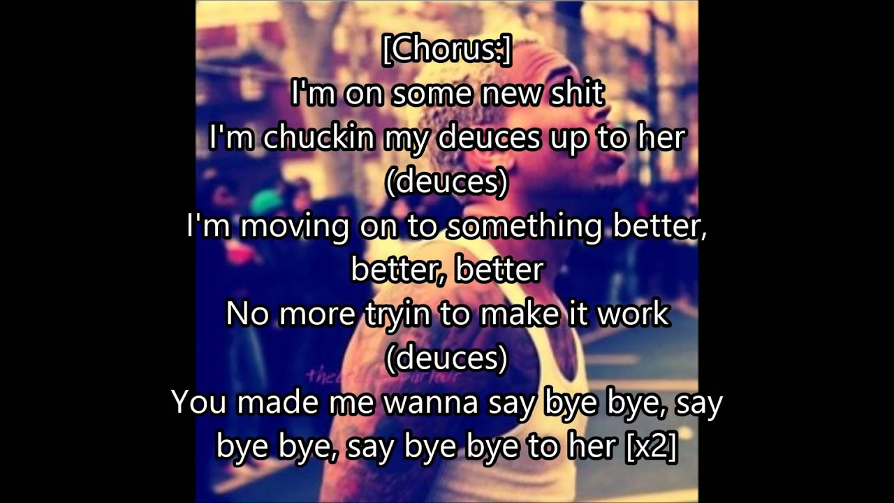 deuces lyrics chris brown tyga