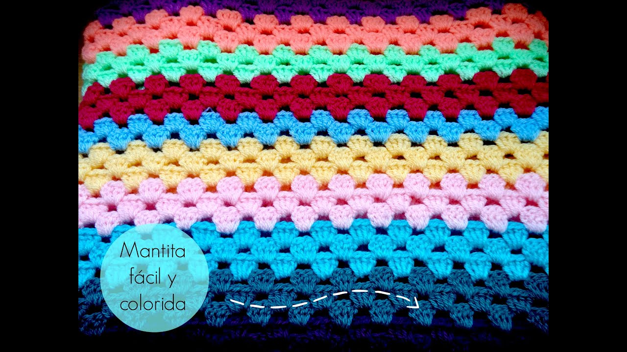 Manta f?cil de GANCHILLO - Easy CROCHET blanket (TUTORIAL) - YouTube