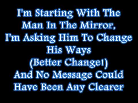 Michael jackson man in the mirror lyrics viewpure for Mirror mirror lyrics