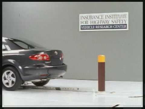 Crash Test 2003 Mazda 6 / Atenza ( 5 M.P.H) Rear into Pole