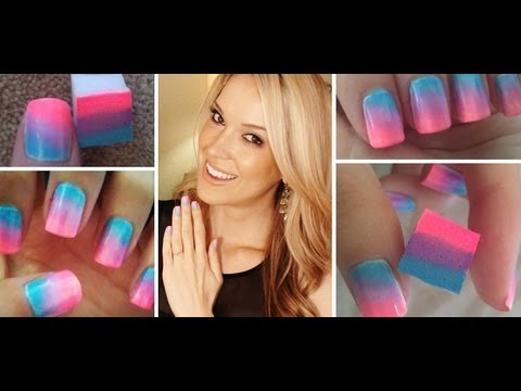 How To ♥ ONE Step Ombre Nails!!!,