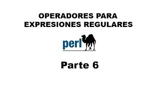 Perl tutorial. Parte 6