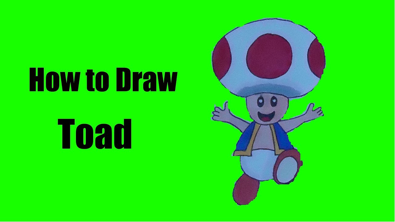 How to Draw Toad (Super Mario) - YouTube