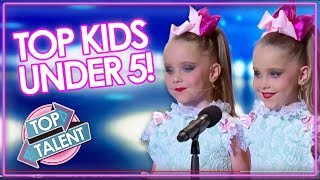 KID'S GOT TALENT   UNDER 5 Audition Including DJ Arch, Heavenly Joy & The Henry Twins   Top Talent