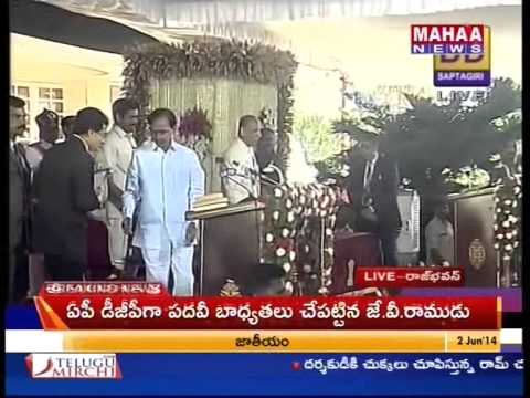 K Chandrasekhar Rao Sworn in as First Chief Minister