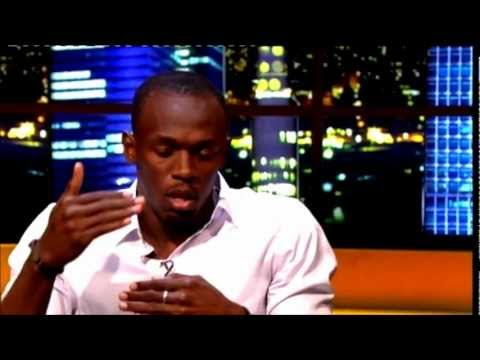 Usain Bolt being interviewed in London on the Jonathan Ross -August 18, 2012  Usain Bolt.