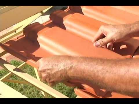 Telha romana de barro