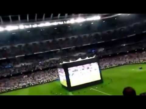 Santiago Bernabéu after Sergio Ramos goal Champions League final