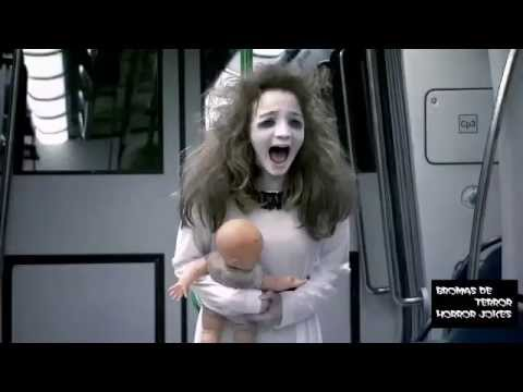 Broma Niña Fantasma En El Metro Broma De Terror