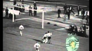 Sporting - 1 x Ol. Lyon - 1 de 1963/1964 2ª mão das 1/2 finais Taça das Taças