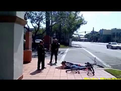 Santa Ana Police Aim Tasers at Young Females On Bikes For Refusing To Answer Questions