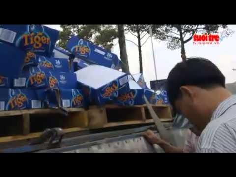 Hot clip người dân  hôi của hàng ngàn thùng bia tiger ở đồng nai