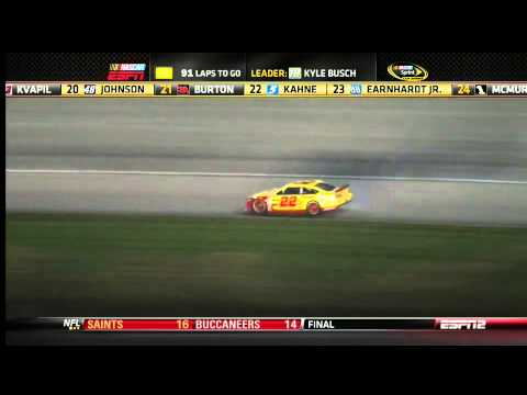 Chase contender Joey Logano up in smoke @ 2013 GEICO 400