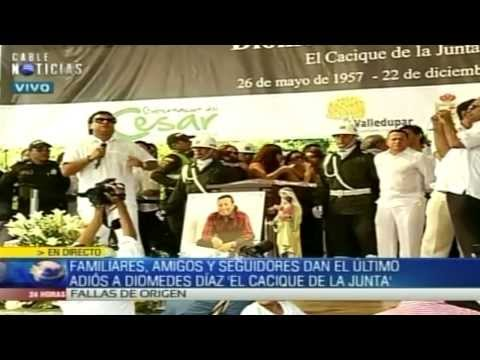 FUNERAL DIOMEDES DIAZ DESPEDIDA DE RAFAEL SANTOS