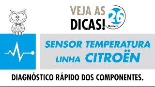 DICA MTE 26 – Sensor de Temperatura Linha Citroën