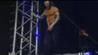 Jeff Hardy Does A Crazy Swanton Bomb To Randy Orton
