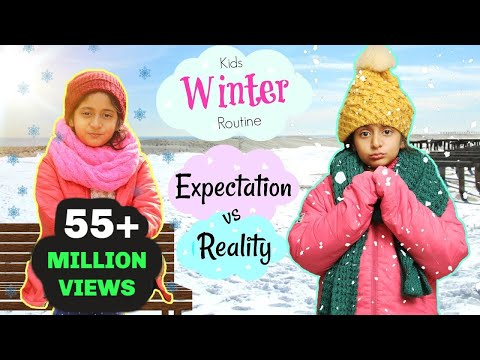 Kids Winter Routine - Expectation Vs Reality ... | #Roleplay #Fun #Sketch #MyMissAnand
