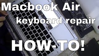 Macbook Air A1369 A1466 Keyboard Repair & Replacement