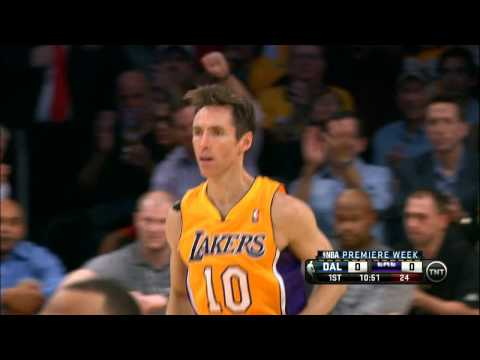 Steve Nash`s First Basket as a Laker