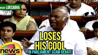 Mallikharjun Kharge Loses His Cool In Parliament