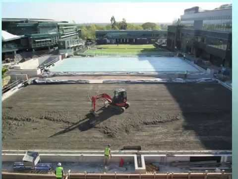Wimbledon Courts 14 and 15 Construction: A Time-lapse