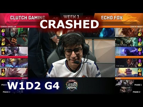 [CRASHED] Clutch Gaming vs Echo Fox | Week 1 Day 2 S8 NA LCS Summer 2018 | CG vs FOX W1D2