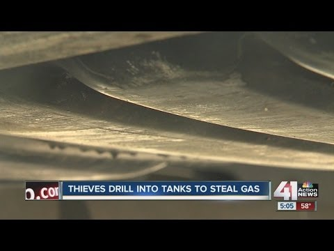 Thieves drill into tanks to steal gasoline