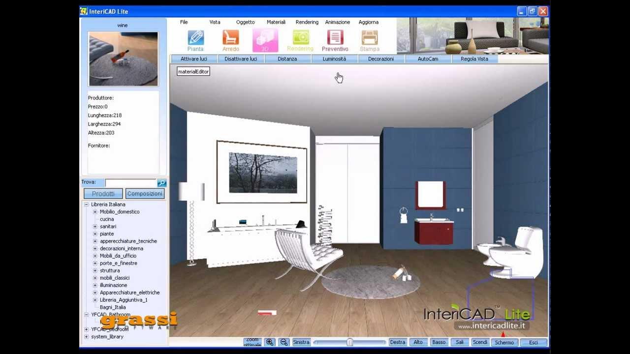 Progetto arredo presentazione 3d di un bagno intericad for Programma 3d arredamento