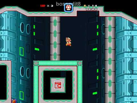 Super Mario Bros. X (SMBX) Custom Level - Futuristic Fortress