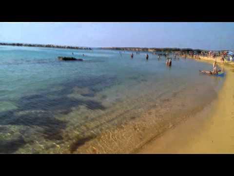 Кипр Пафос Средиземное море пляж Coral Bay Корал Бэй ноябрь 2013