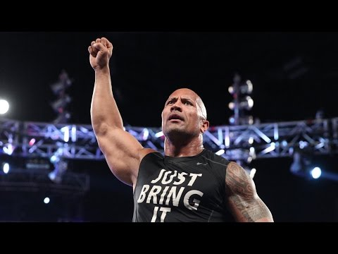 Retour du The Rock contre Rusev