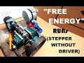 Stepper Motor Runs Without a Driver with a Free Energy Generator