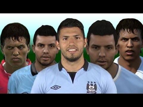 Sergio Aguero From FIFA 07 to 14