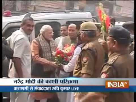 Modi visited Sankatmochan temple in Varanasi under tight security