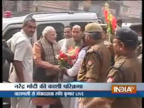 Modi visited Sankatmochan temple in Varanasi under tight security