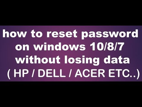 how to create a password reset usb for windows 10