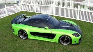 Mazda RX 7  Super Tuning veilside modified version.  Tokyo Drift