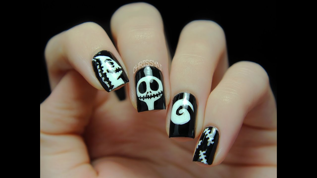Nightmare Before Christmas Nail Ideas | Best Nail Designs 2018